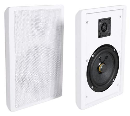 "2 Rockville RockSlim White Home Theater 5.25"" 240w Easy Wall"