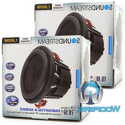 SOUNDSTREAM SUBS 3600W MAX DUAL NEW