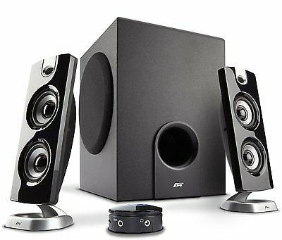 Cyber Acoustics 2.1 Powered Speakers with Subwoofer for PC G