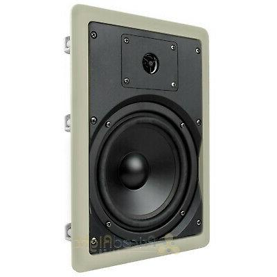 """4 6.5"""" In Wall Home Theater Audio Musica602W"""