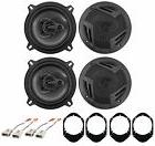"Rockville 5.25"" Front+Rear Factory Speaker Replacement For 9"