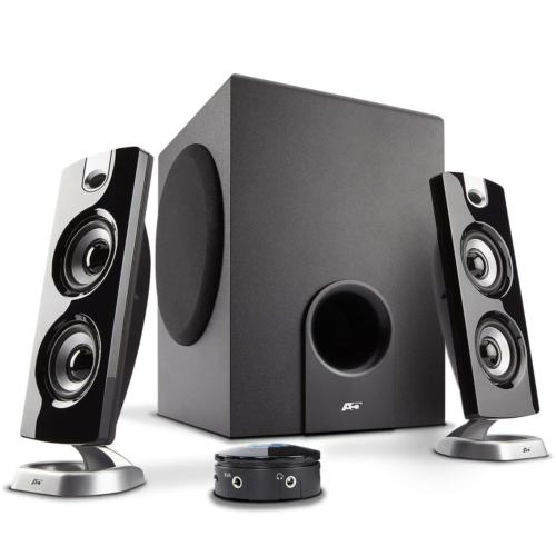 62W Desktop PC Speaker with Subwoofer - Perfect 2.1 Game and