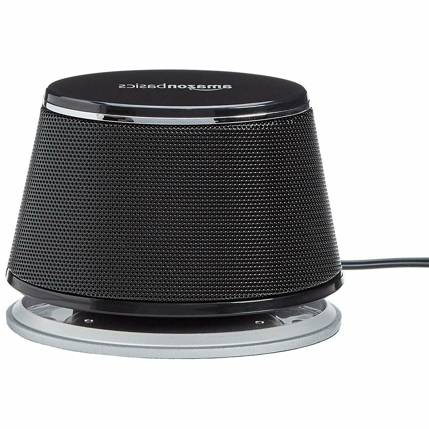 AmazonBasics PC Speakers with Dynamic | Black