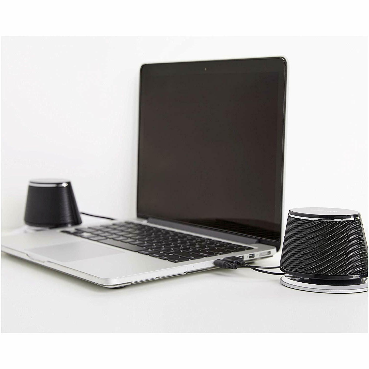 AmazonBasics PC Computer Speakers Dynamic | Black