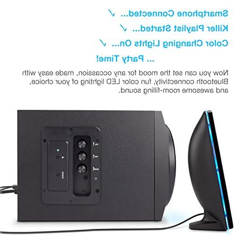 Cyber with LED – The Perfect Gaming, Party, 2.1 Speaker System