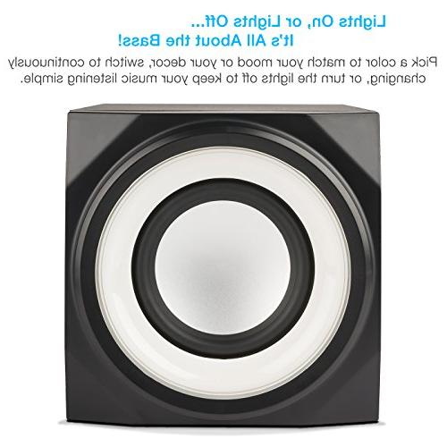 Cyber Bluetooth with LED – The Gaming, Movie, Party, Multimedia Subwoofer Speaker