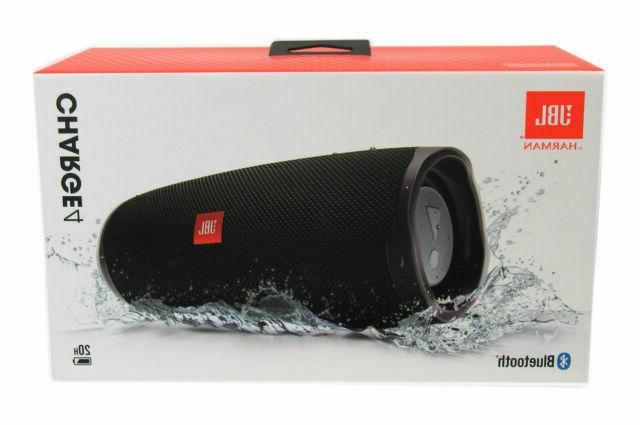 charge 4 portable bluetooth speaker black