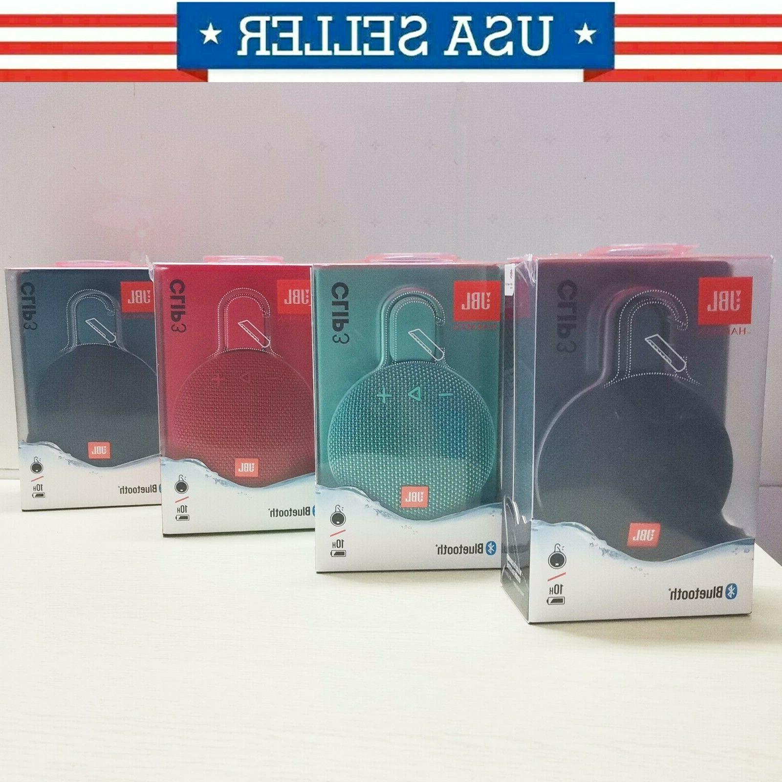 clip 3 rechargeable waterproof portable bluetooth speaker