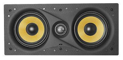 "TDX Dual 5.25/"" 2-Way In-Wall Center Channel Flush Mount Audio Speaker 200W White"