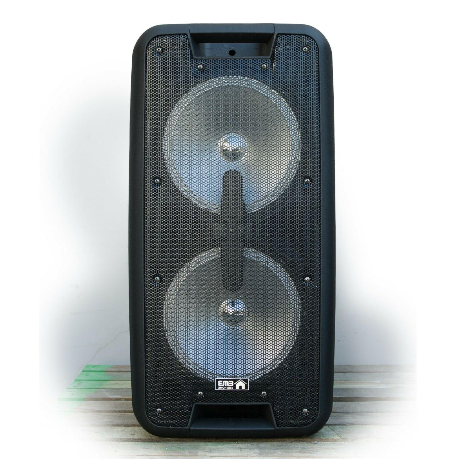 EMB Watts Portable Powered Party PA Speaker w/