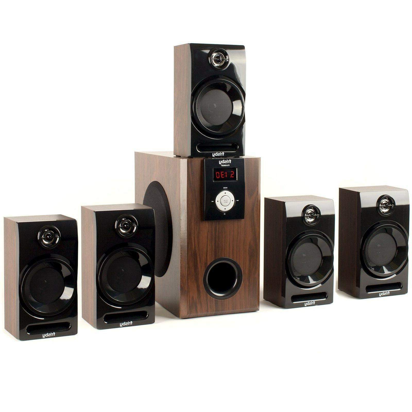Frisby 5.1 Surround Sound Speakers System with USB/SD and Remote