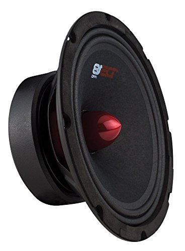 "DS18 8"", Red Aluminum Bullet, 580W RMS, 8 Ohms Premium Audio Door Speakers for Car Truck Stereo System"