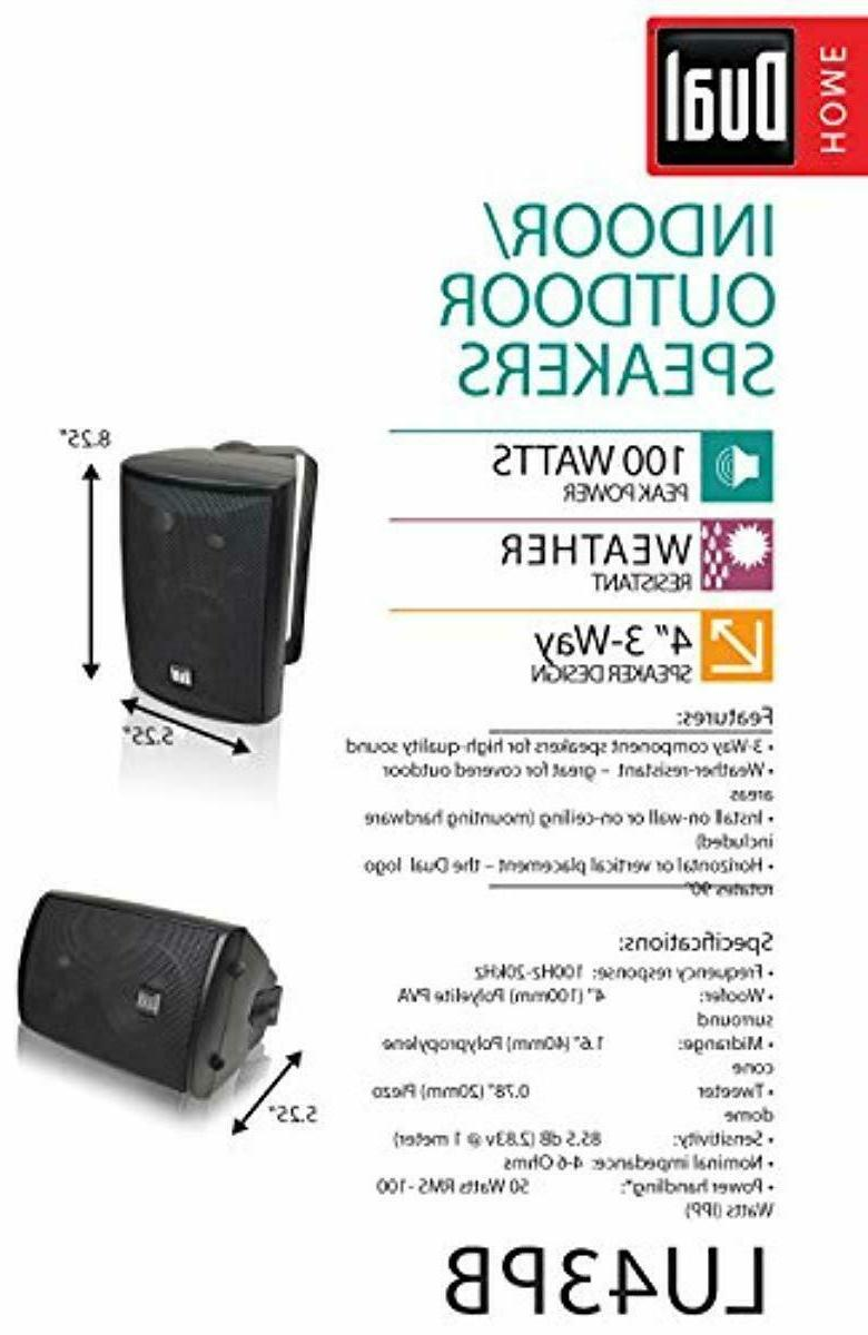Dual LU43PB 3-Way High Performance Outdoor Speakers with