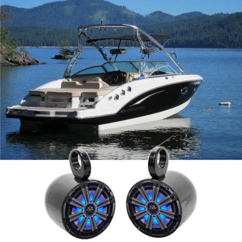 "Pair KICKER 45KM84L 8"" 600 Watt Marine Boat Wakeboard Tower"