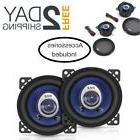 "Pair Car Speakers 4"" 180 Watt 2 Way Full Loud Range Stereo T"