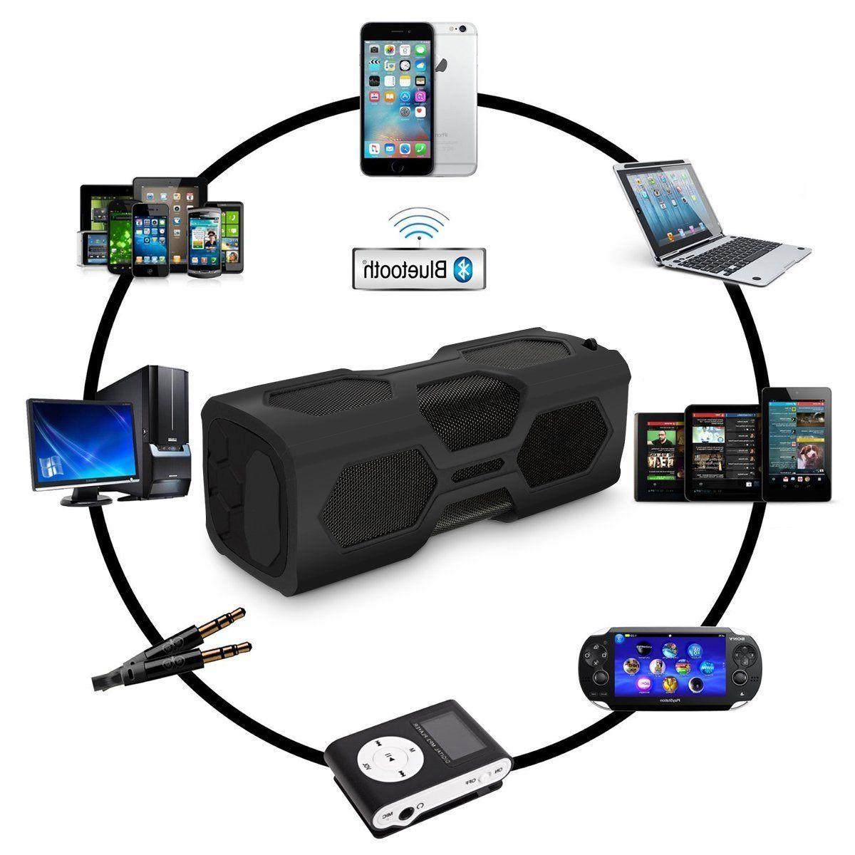 Portable Bluetooth Waterproof Power Bass Subwoofer