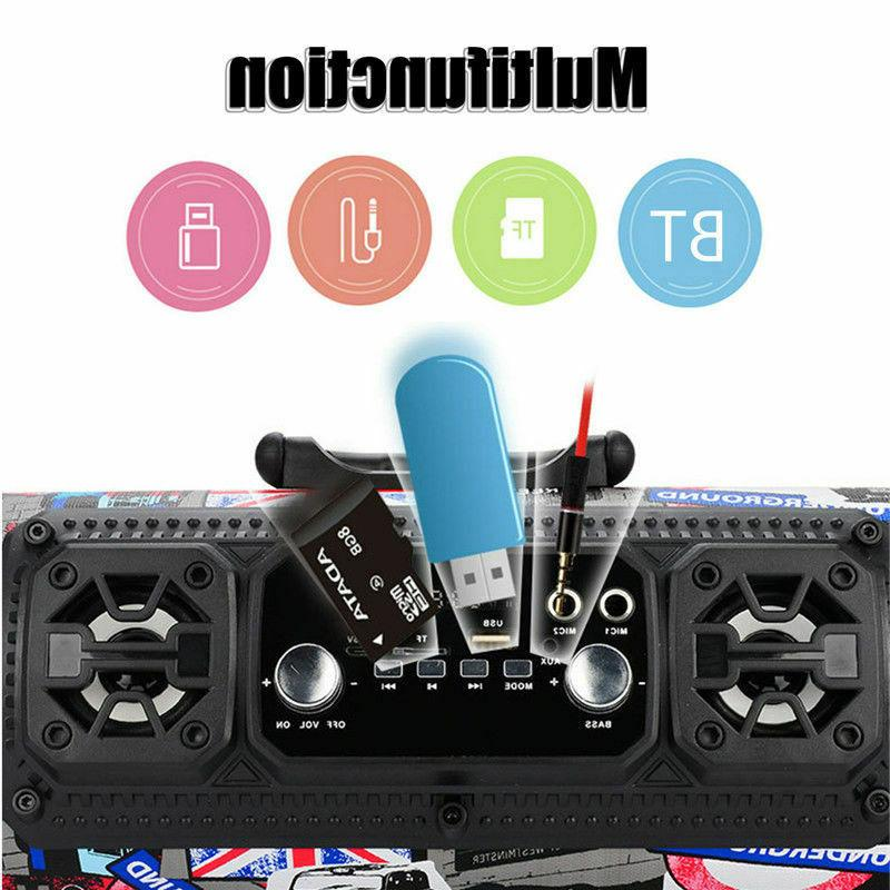Portable Super Stereo HIFI FM TF AUX USB