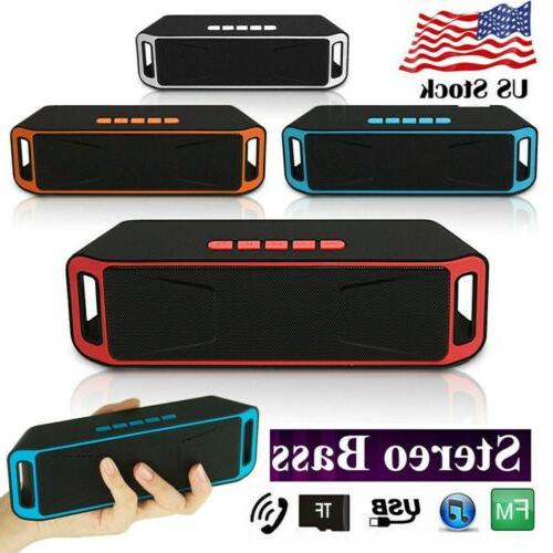 Bluetooth Stereo Super Bass Speaker Rechargeable Mini Wirele