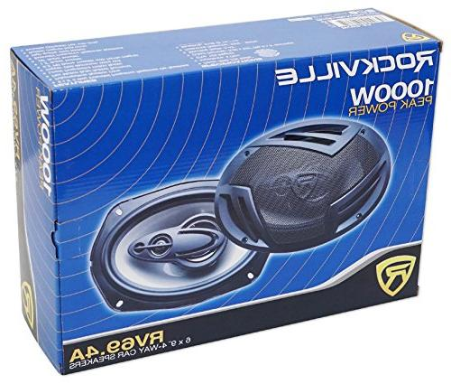 4-Way Speakers 2000 Watts/440w RMS Rated