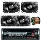 "Sony Cd Receiver 52x4W Amplifier W/ 4x 4x6"" Coaxial Car Spea"