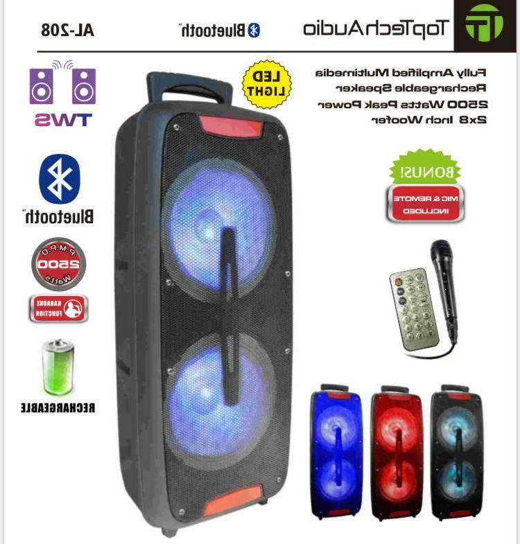 top tech audio fully amplified portable 2500