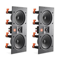 "JBL LAE5I Dual 5-1/4"" 2-Way In-Wall LCR Speakers w/ White"