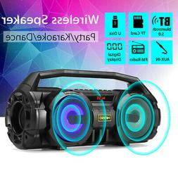 LED bluetooth Speaker Bass Portable Subwoofer Wireless Boomb