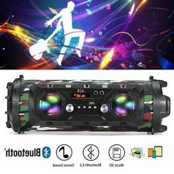 LED bluetooth Speakers Bass Wireless Subwoofer Boombox FM St