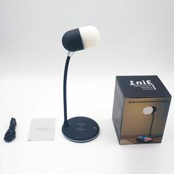 LED Desk Lamp Night Light with Bluetooth Speaker and Wireles