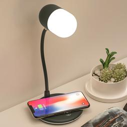 LED desk lamp with wireless charger bluetooth speaker  light