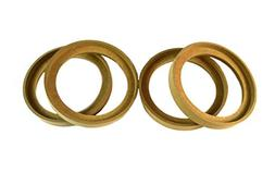 """2 Pair 6.5"""" MDF Speaker Ring Recess With Bezel Mounting Spac"""