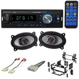 Digital Media Receiver/Radio+Front Speakers+Wire Kits for 87