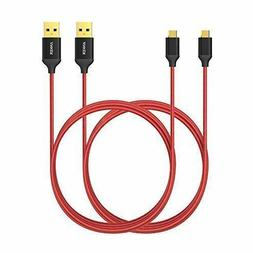 Micro USB Cable Anker 6ft /1.8m Nylon Braided Tangle-Free fo