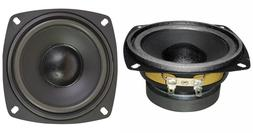 """NEW  4"""" Woofer Speakers.Home Audio Replacement Pair.4.5"""" tot"""