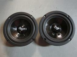 "NEW  5"" Woofer Speakers.Sealed MidRange Pair.8 ohm.Five inch"