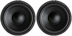 """NEW  6.5"""" Woofer Speakers.Replacement.8 ohm.Home Audio Sound"""