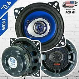 "New Gravity 4"" inch 3-Way 250 Watts Coaxial Car Speakers CEA"