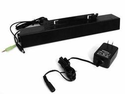 New Dell AX510PA 3.5mm Wired Desktop Sound Bar PC Multimedia