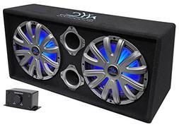 "NYC Acoustics NSE212L Dual 12"" 1800w Powered/Amplified Car S"