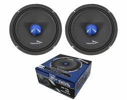 Pair Audiopipe 6 Inch Shallow Mid Full Range Loud Speakers B