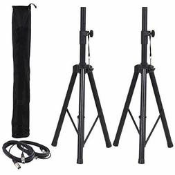 Pair of Tripod DJ PA Speaker Stands Adjustable Height Stand