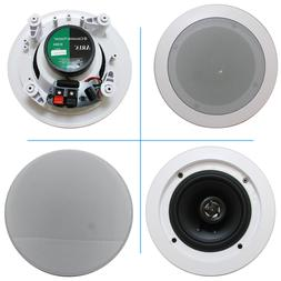 "5.25"" Ceiling Wall Mount Speakers - Pair of 2-Way Midbass"