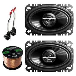 Pioneer TSG4620S 4x6 2-Way 200W Car Speakers , Metra 72-4568