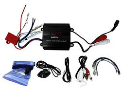 Pyle PLMRMP3B 800W 4-Channel Waterproof Micro Marine Amplifi