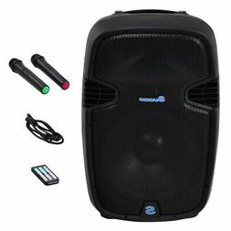 "Portable 12"" 600W Rechargable Battery Powered Speaker DJ/PA"