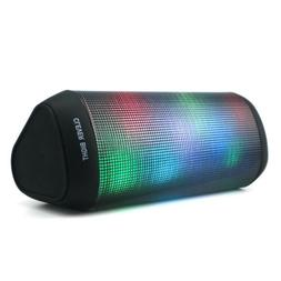 Portable Bluetooth Speakers LED Lights 7 Patterns HD Bass Po