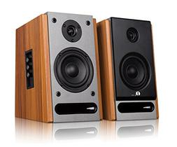 1byone Powered Bluetooth Classic Bookshelf Speaker with 4'