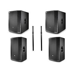 JBL PRX815W 15' Main System Floor Monitor  with JBL PRX818XL