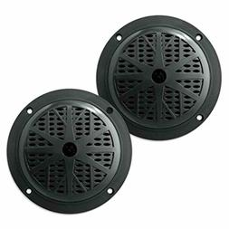 Pyle 4 Inch Dual Cone Waterproof Stereo Speakers System Car