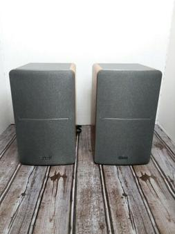r1280db 42w bluetooth bookshelf speakers wood vgc